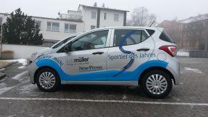 Auto Werbebeschriftung - Auto Müller