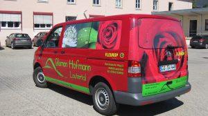Auto Werbebeschriftung - Blumen Hofmann
