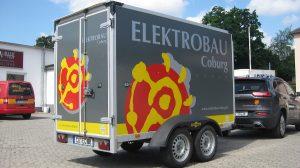 Auto Werbebeschriftung - Elektrobau Coburg