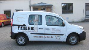 Auto Werbebeschriftung - Feiler Coburg